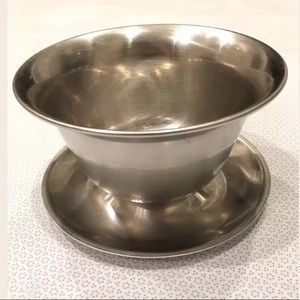 Other - Stainless Steel 18-8 Denmark Bowl with Under Plate